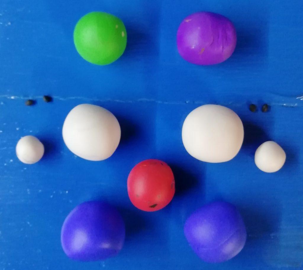 Meine Farben für eine Knetfigur