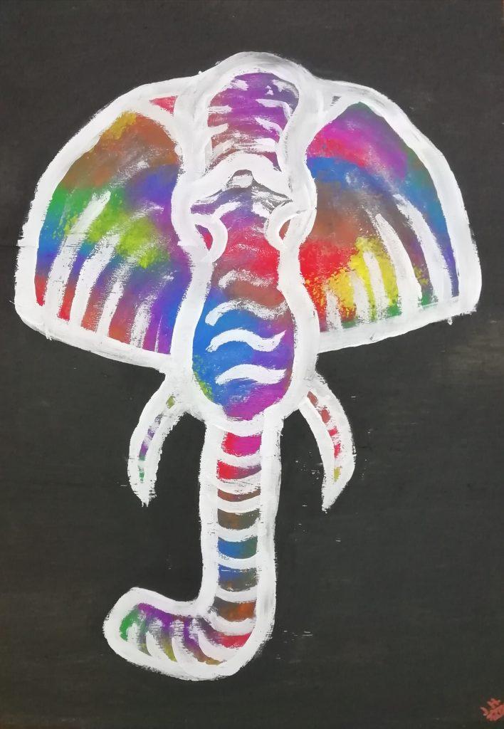 Bunter Elefant