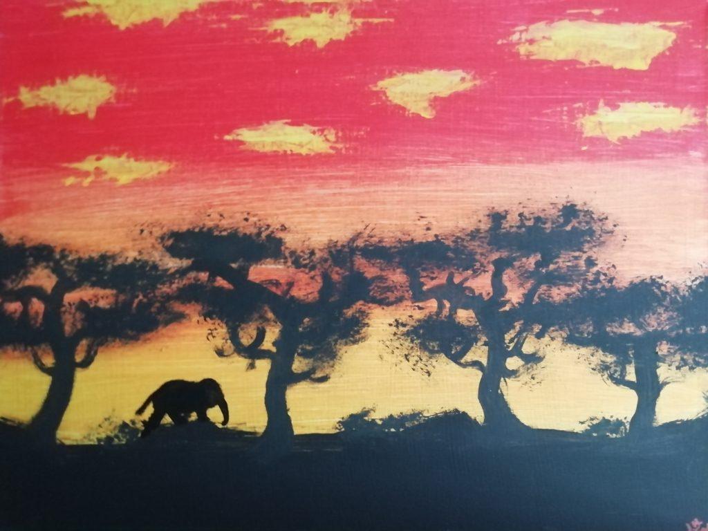 Elefant in der Landschaft