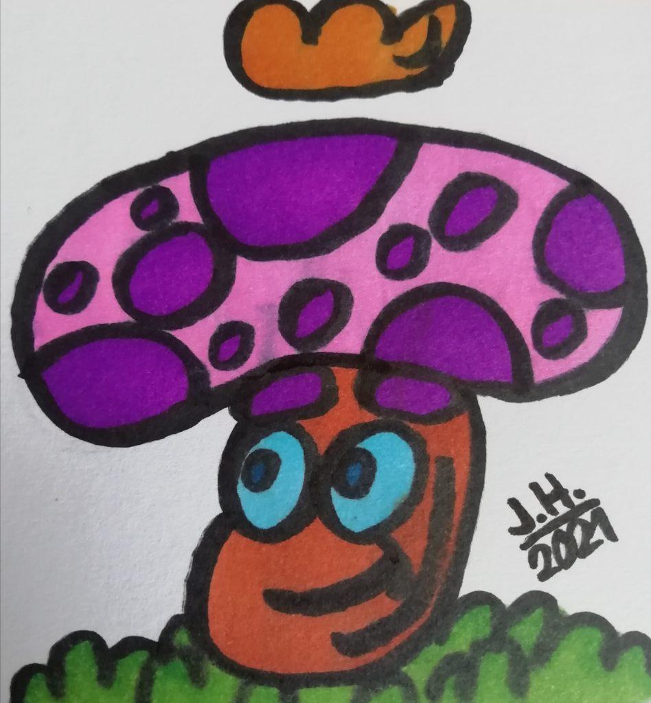 Pilz mit Grone