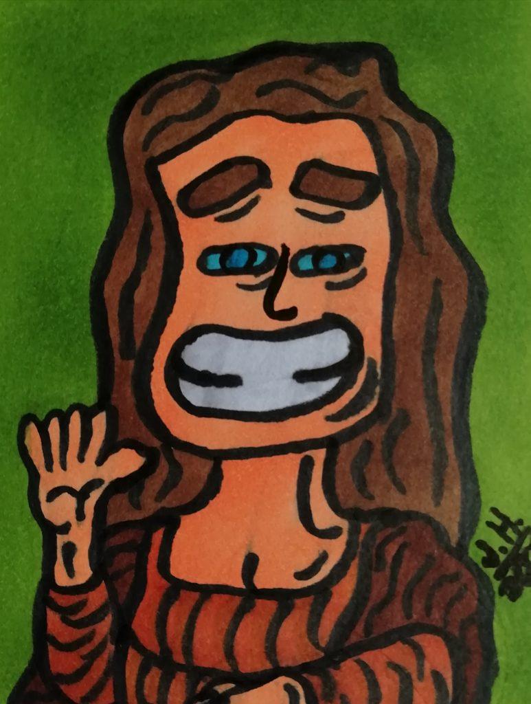Cartoon Mona Lisa