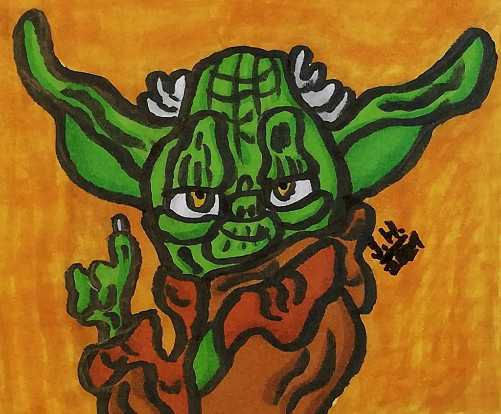 Yoda gezeichnet