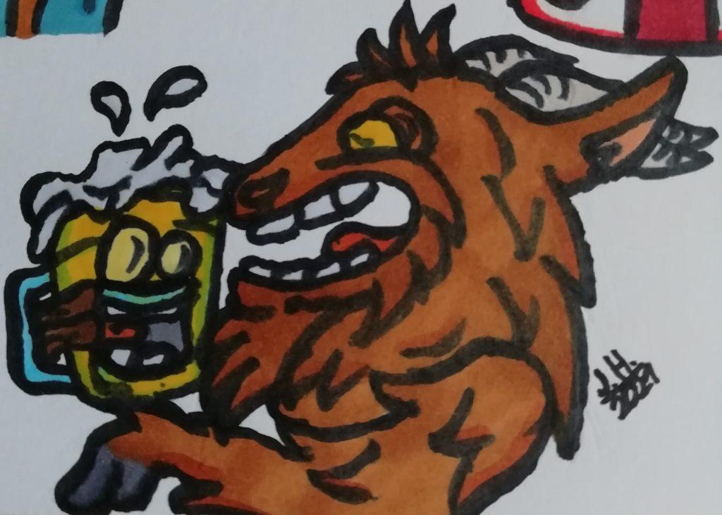 Cartoon Bier